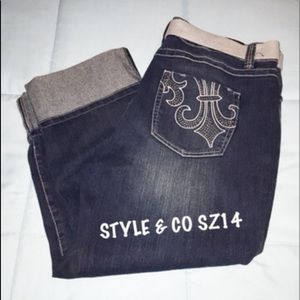 Cropped Jeans/Capris By Style&Co Plus 14 NWOT